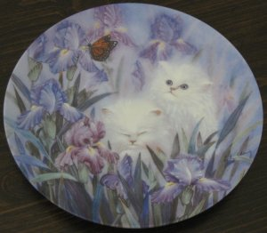 Garden Discovery Cat Plate by The Bradford Exchange