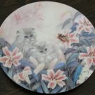 Flowering Fascination Cat Plate by The Bradford Exchange