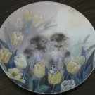 Springtime Oasis Cat Plate by The Bradford Exchange