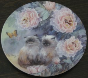 Blossoming Adventure Cat Plate by The Bradford Exchange