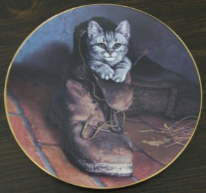 Puss in Boots Cat Plate by The Bradford Exchange