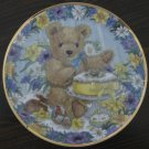 Teddy&#39;s Easter Treat Cat Plate by The Franklin Mint