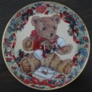 Teddy&#39;s First Christmas Cat Plate by The Franklin Mint