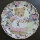 Teddy&#39;s Spring Bouquet Cat Plate by The Franklin Mint