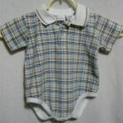 Boy's Plaid Romper - Size 18 months