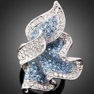 Blue Swarvoski Crystal Ring