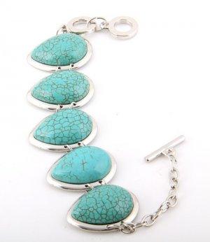 Triangle Turquoise Gemstone Bracelet