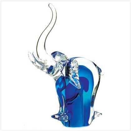 ART GLASS ELEPHANT FIGURINE