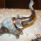 Bronze Mirrored Back Elephant Sculpture  (2) PC Set