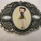 Cream Color Betty Boop Belt Buckle