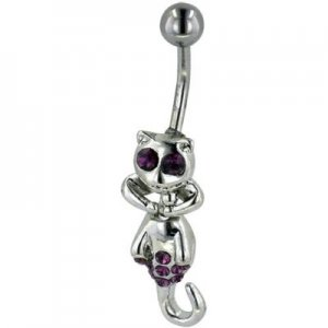 Purple Crystal Lemur Belly Jewelry
