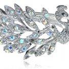 Swarovski Crystal Peacock Bracelet, Silver Tone