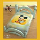 Mickey Mouse & Teddy Bear Crib Blanket, Licensed Disney