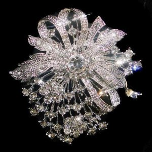 Swarvoski Crystal Bridal Brooch