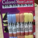 "(6) Pair, 43"" Long, Multi-Colored Shoe Laces"