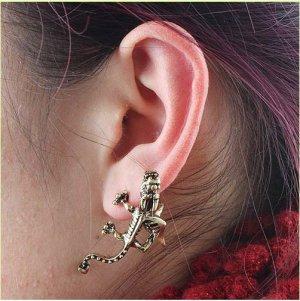 Bronze Dragon Stud Earring