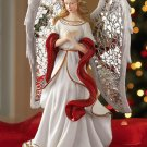 Elegant Silver Mosaic Wings Christmas Angel