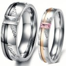CZ Diamond Elements Couples Love Rings, 2 PC Set