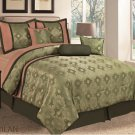 7 PC Milan Comforter Set, Olive