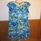 Connected Apparel Blue Floral Dress, Size 14W