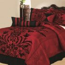 7 PC Burgundy King Comforter Set