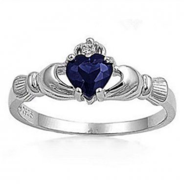 BNWOT ~ Claddagh Ring, Sapphire Blue, Multiple Sizes