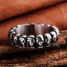 BNWOT ~ Stainless Steel Skeleton Skull Head Ring, Size 8