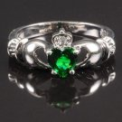 BNWOT ~ Claddagh Ring, Emerald, Multiple Sizes