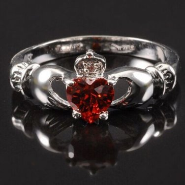 BNWOT ~ July Birthstone Claddagh Ring, Multile Sizes