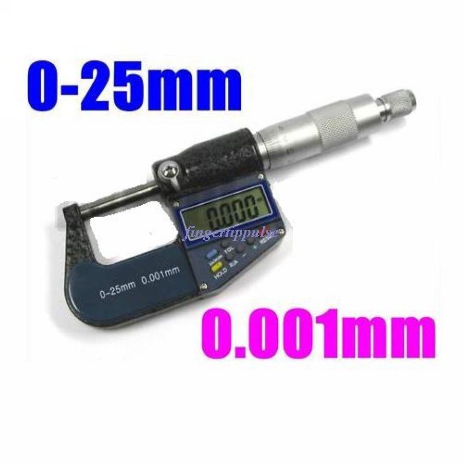 """Digital LCD Micrometer 1"""" 25mm 0.001 mm Ruler Caliper"""