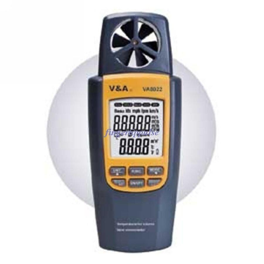 Temperature Air volume Vane anemometer VA8022