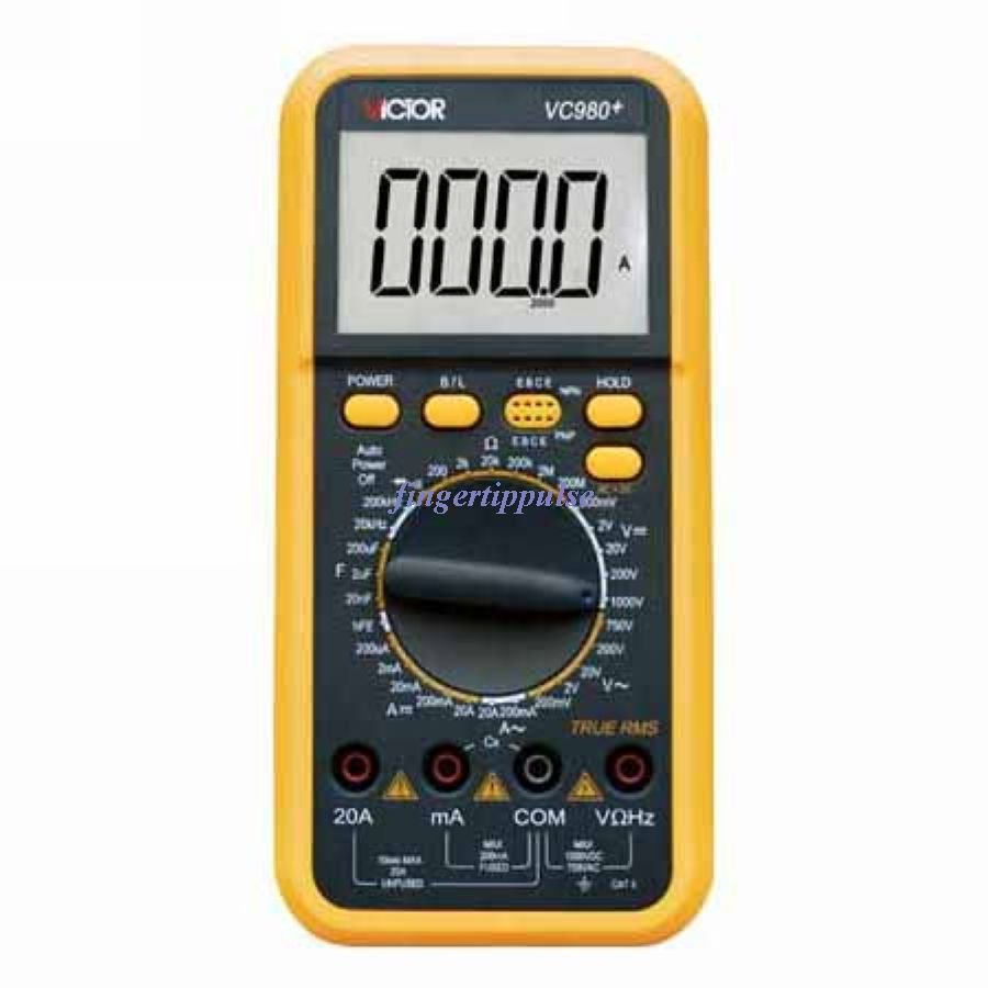 T-RMS Digital Multimeter AC/DC/Ω/nF/uF/kHz VC980+