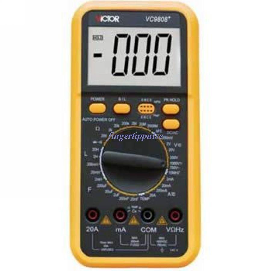 Digital Multimeter DC ACV DCA ACAmH nF uF kHz 9808+