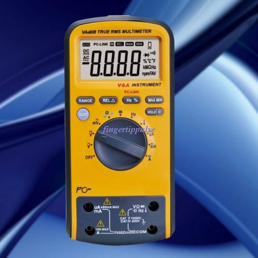 Multimeter USB VA40R 6K counts DC AC Ω μF MHz KHz T