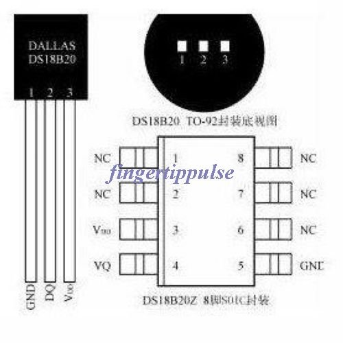 10pcs Original New Temperature Sensor DS18B20 Dallas IC