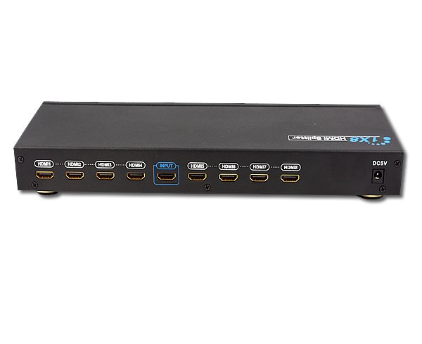 8 Port HDMI 1x8 Splitter 1 In 8 Out HD 1080p HDCP V1.3b