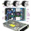 CNC Kit 3 Axis Driver 3A + NEMA 23 Stepper Motor+PSU
