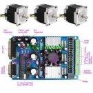 3 Axis NEMA 23 Stepper Motor Driver Controller CNC Kit