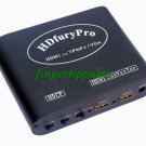 2 HDMI HDCP in to VGA YPbPr out Video Audio Converter