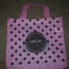 PINK W/ BROWN POLKA DOTS Resuable Grocery Shopping Bags