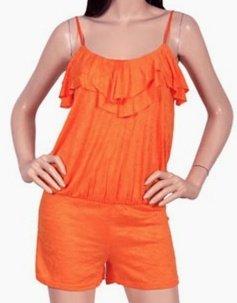 GreenVille Ruffle Bust Comfortable Romper Fashion