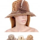 Herringbone Pattern Rosette Bucket Beach Hat Fashion