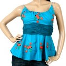 Peplum Babydoll Flare Ruch Waist Blouse Shirt Top Fashion