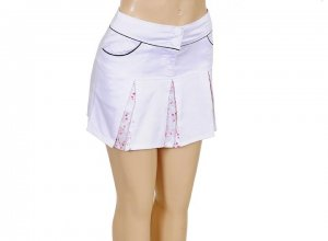 Grifflin Paris White Sailor Embroidered Panel Pleated Skirt