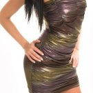 LAST ONE IN STOCK!! Ombre Liquid Strapless Ruched Club Dress