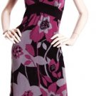 LAST ONE IN STOCK!! Glam Ruffle Collar Bold Floral Empire Waist Dress