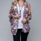 LAST ONE IN STOCK!! Paisley Print Split Sleeve Cardigan (Cristobal Spring Trend)