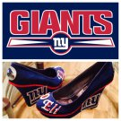 Custom New York Giants NFL Couture Bling Wedge Heel