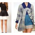 Vintage Look Tulle Anthropologie Color Block Skirt