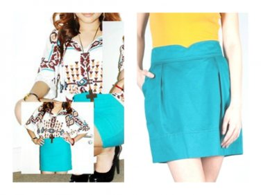 Tulle Anthropologie Scallop Waist Pleated Skirt